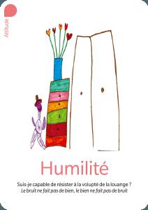 humilité - carte du jeu Valeurs Ajoutées