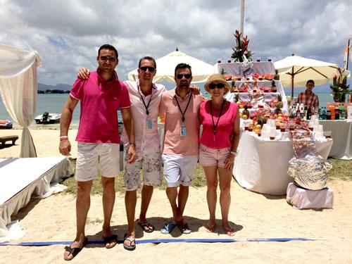 Clients REVLON Professional Brands sous le soleil de l'île Maurice