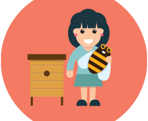 Anna, marraine d' abeilles