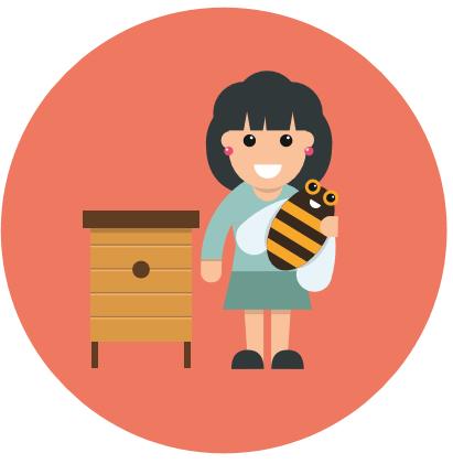 Anna Edery et les abeilles