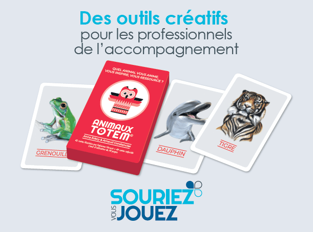 animaux totem jeu de cartes édité chez Souriez Vous Managez